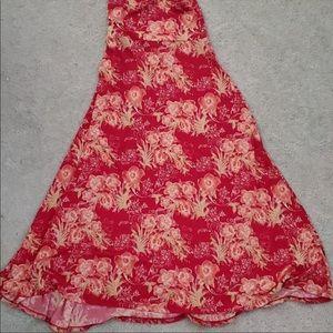 LulaRoe silky maxi skirt